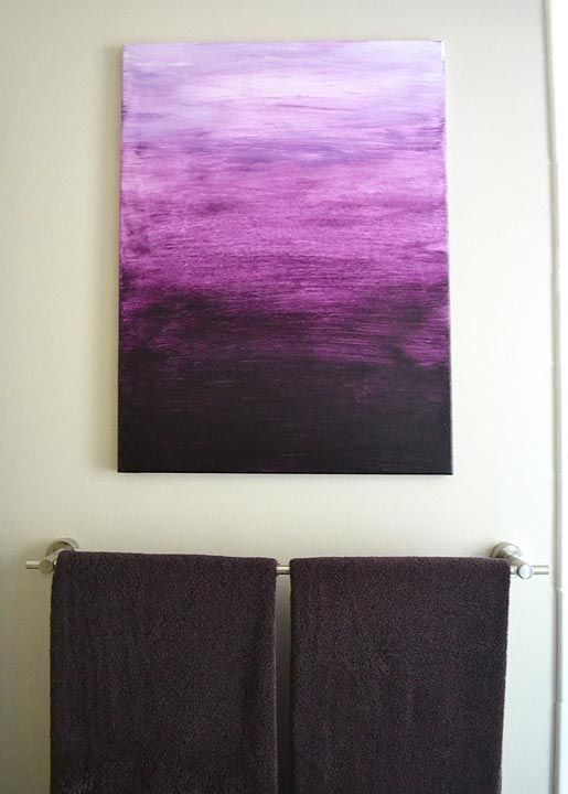 living room canvas art ideas decorating uk 2017 diy ombre painting black purple blue - google ...