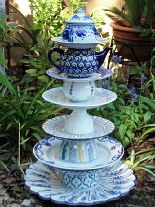 Gartendekoration Selber Machen Garten Dekoration Selber Machen Altes Porzellan Geschirr