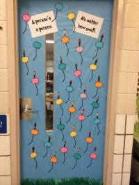 Dr. Seuss theme door, Horton Hears a Who | Bulletin boards ...