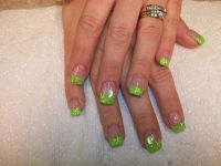 Eye-catching Lime Green Nail Design | Nails | Pinterest ...