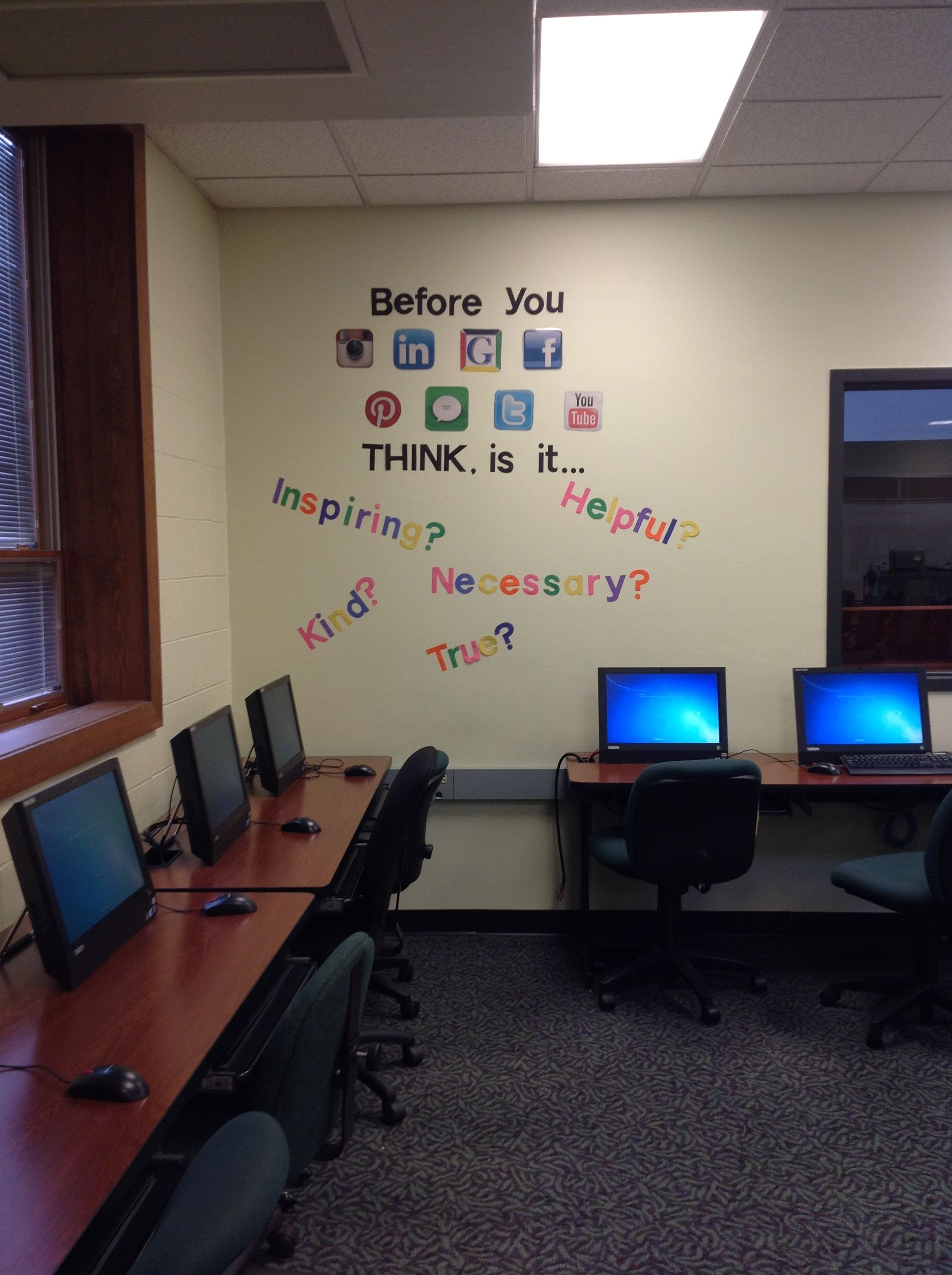 My Bulletin Board For My Computer Lab Before You Use