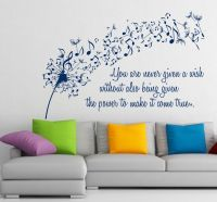 Wall Vinyl Decal Sticker Dandelion Music Quote Musical ...