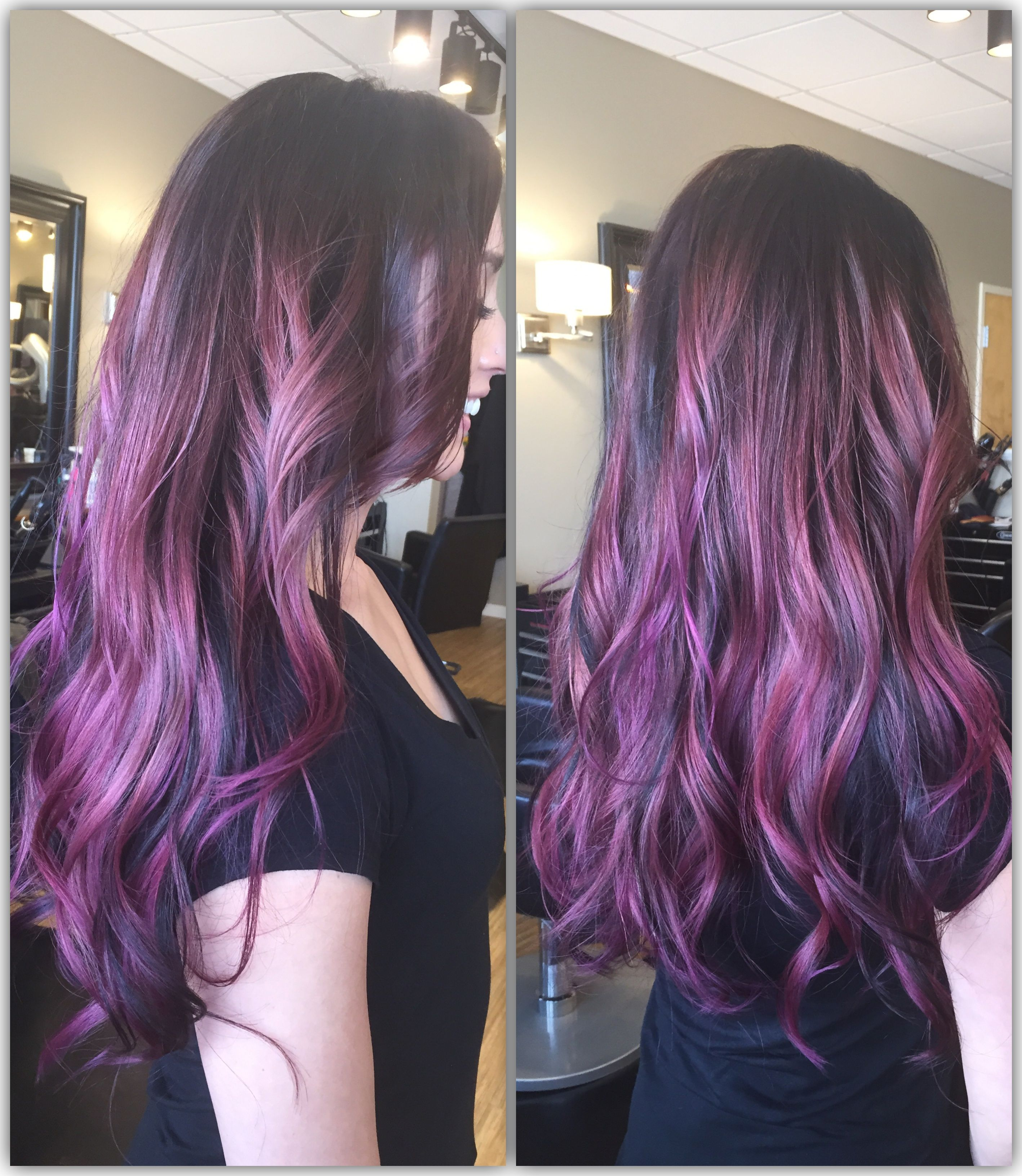 Purple Ombre With Goldwell Elumen