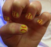softball nails haddiebug