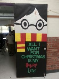 Harry potter Christmas door 2014   Advisory   Pinterest ...