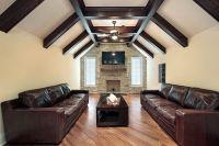 201 Family Room Design Ideas for 2017   Beams, Brick ...
