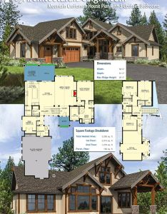 Architectural designs mountain craftsman house plan gives you bedrooms upstairs and the master on main level home over sq of heated also jd with rh pinterest