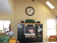 decorating ideas for tops of entertainment centers with ...