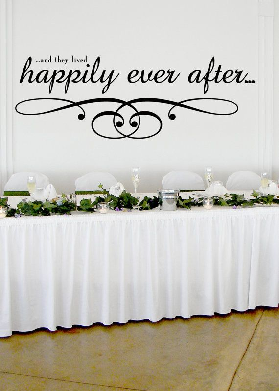 Happily ever after wedding wall decor vinyl sticker decal   also rh pinterest