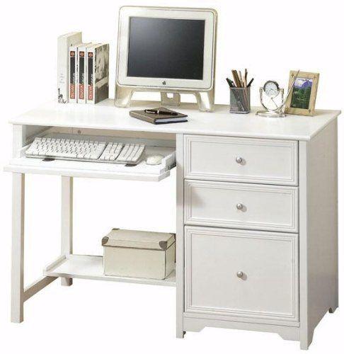 "Oxford Computer Desk With Shelf 46""W WHITE By Home Decorators"