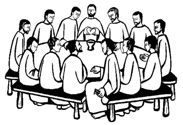 Last Supper, : The Apostles Gather in the Last Supper