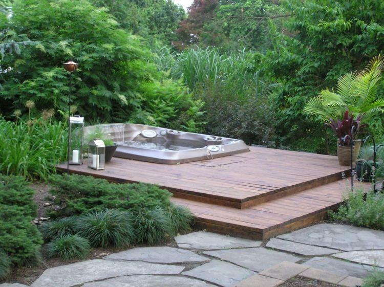 s gartengestaltung pflege terrassen whirlpool im garten charme, Terrassen ideen