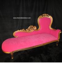 Hot Pink Baroque French Reproduction Louis XVI Style ...