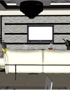 Sketchup free  model living  dining room by mahmoud amer also my rh pinterest