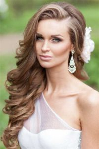 wedding hairstyles for long hair down | Weddings ...