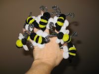 Wendy The Pipe Cleaner Lady's Bee rings!