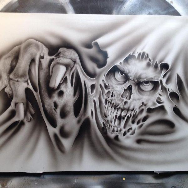 Airbrush Skull Tattoos