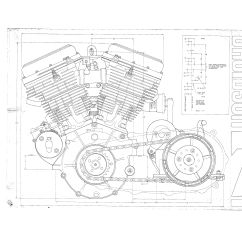 Shovelhead Engine Diagram Wiring Of Alternator Harley Technical Drawings Pinterest