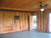 mid century modern original pecky cedar paneled walls ...
