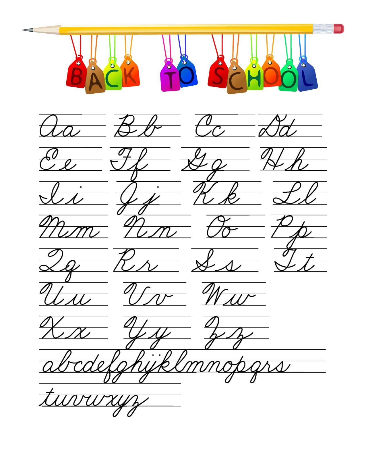 Learn Cursive Writing