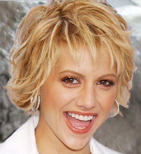 Brittany Murphy Formal Short Hairstyle 89 Blonde Highlights
