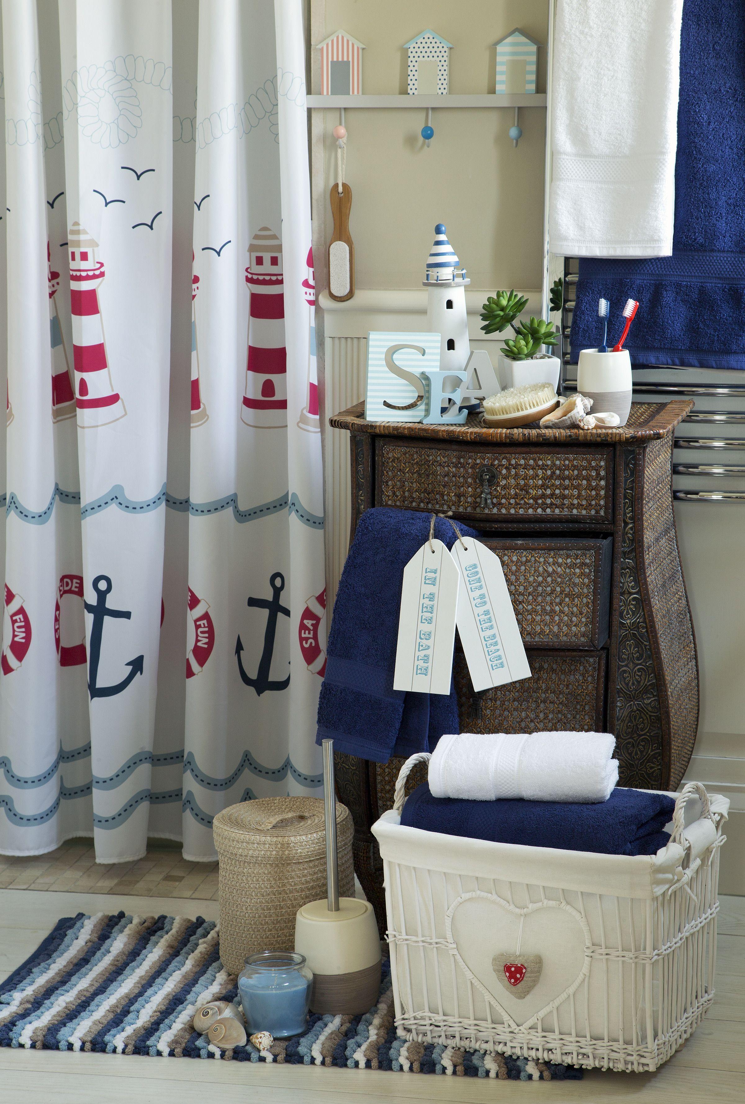 nautical bathroom curtains