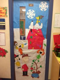 My classroom door, Charlie Brown Christmas!