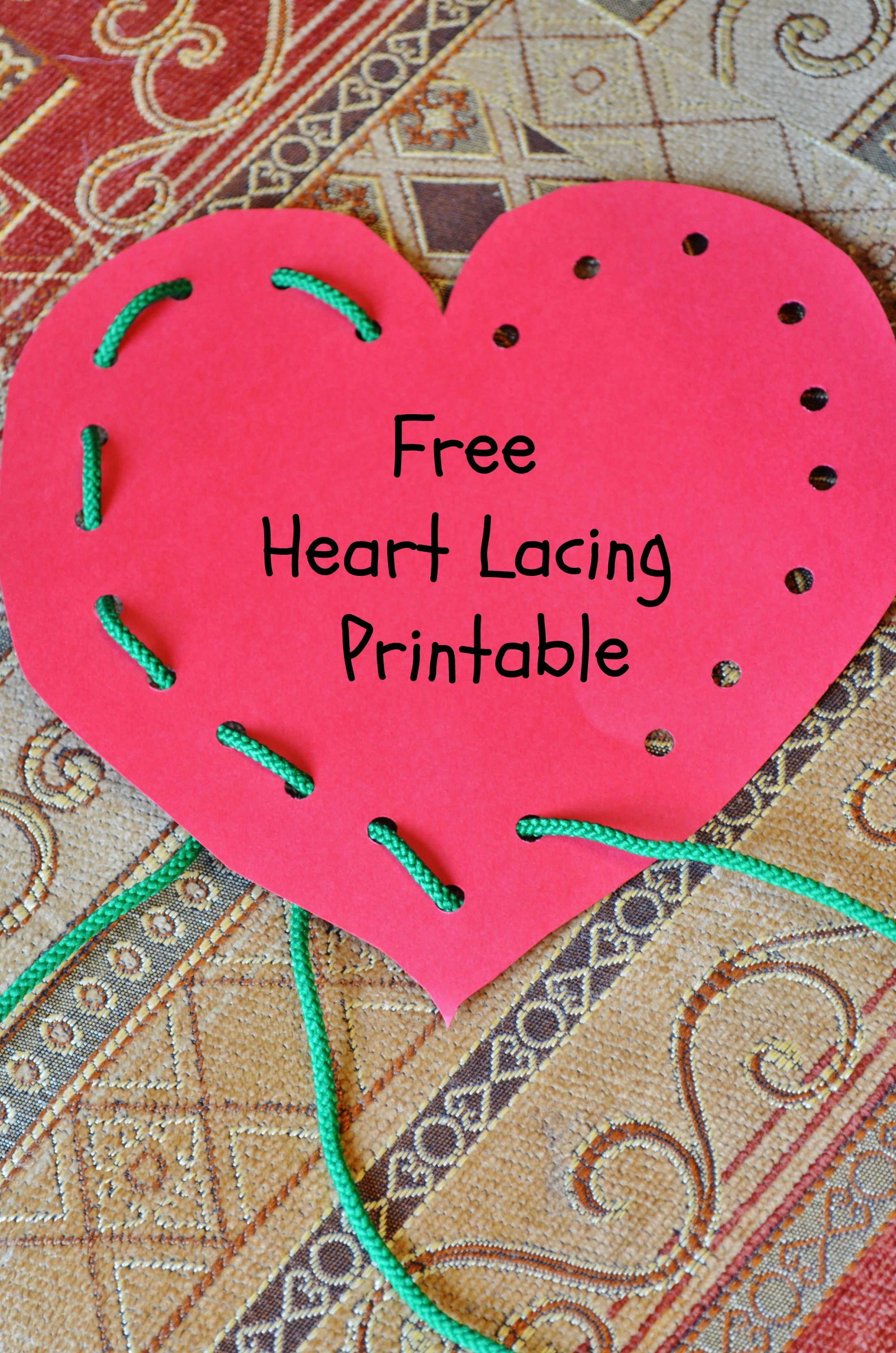 Free Heart Lace And Trace Printable
