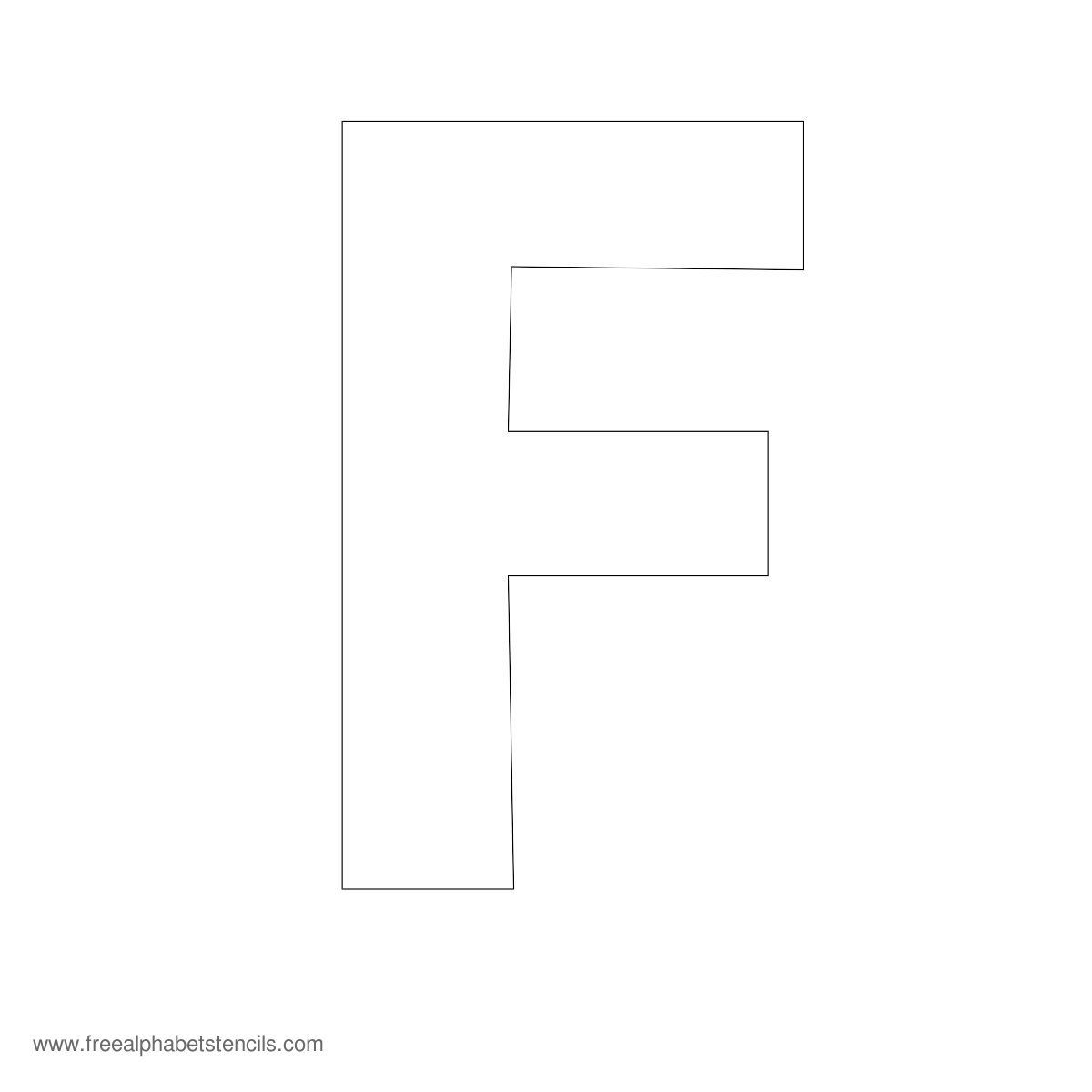 Large Alphabet Stencil F