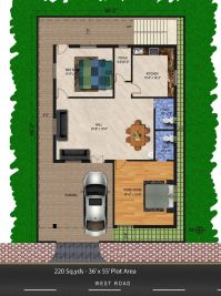 220-sq.yds@36x55-sq.ft-west-face-house-2bhk-floor-plan.For ...