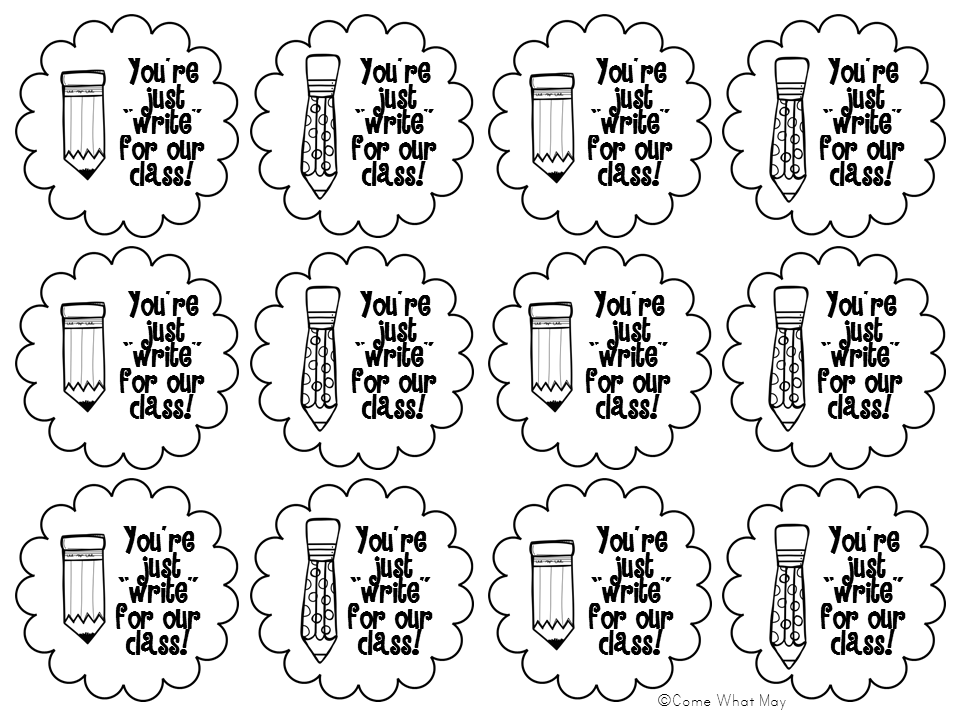 Back to School gift tags FREEBIE! You're Just