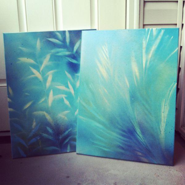 Diy Wall Art- Ingredients Blank Canvas Spray Paint