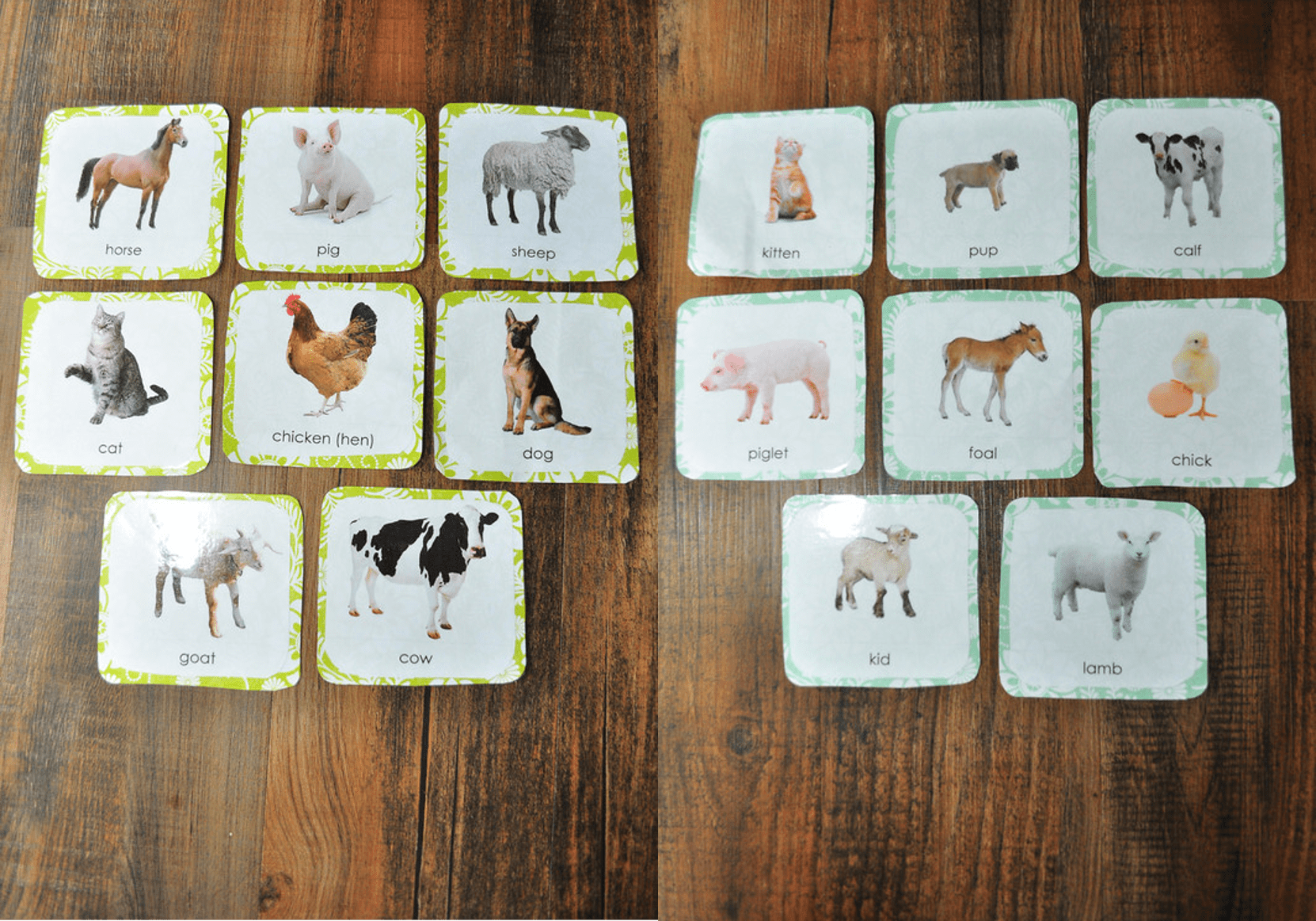 14 Awesome Farm Animals And Their Babies Printables Images