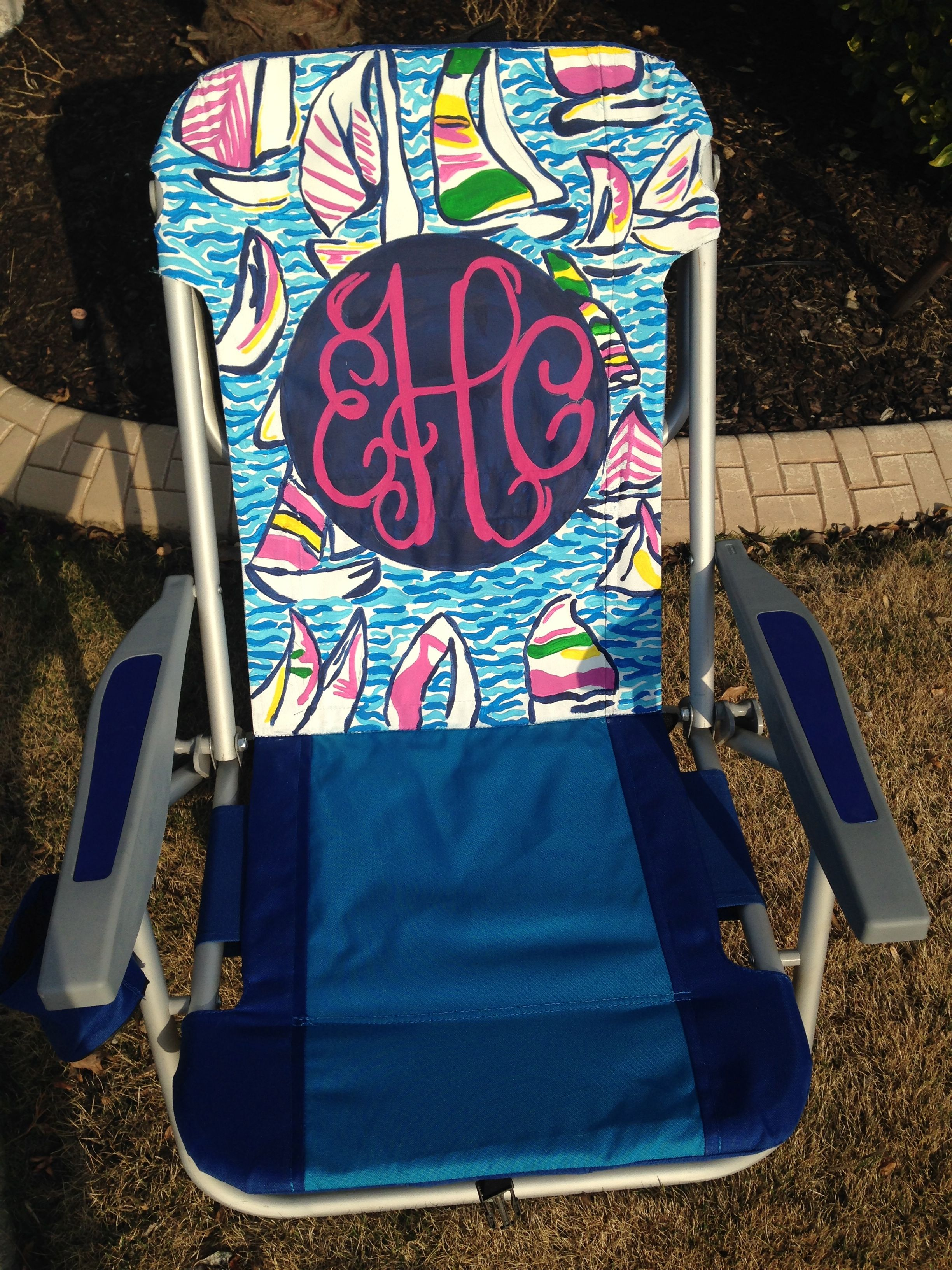 lilly pulitzer chair hon big and tall office chairs inspired monogram beach monograms