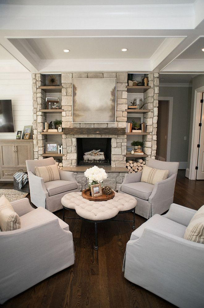 Living room Chairs Four chairs together creates an