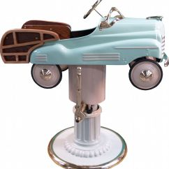 Old School Barber Chair Ergonomic With Head Support Childs 39 Pedal Car Woodie Home Ideas