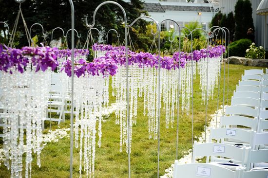 """Outdoor Wedding Ceremony """"reserved"""" Signs For The Ceremony"""