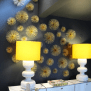 Creative Wall Decor With Gold Sea Urchins Decorate
