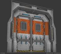 Futuristic Door & Large Preview Of 3D Model Of Futuristic ...