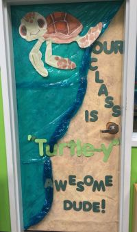 My class door that I did for our sea turtle theme this ...