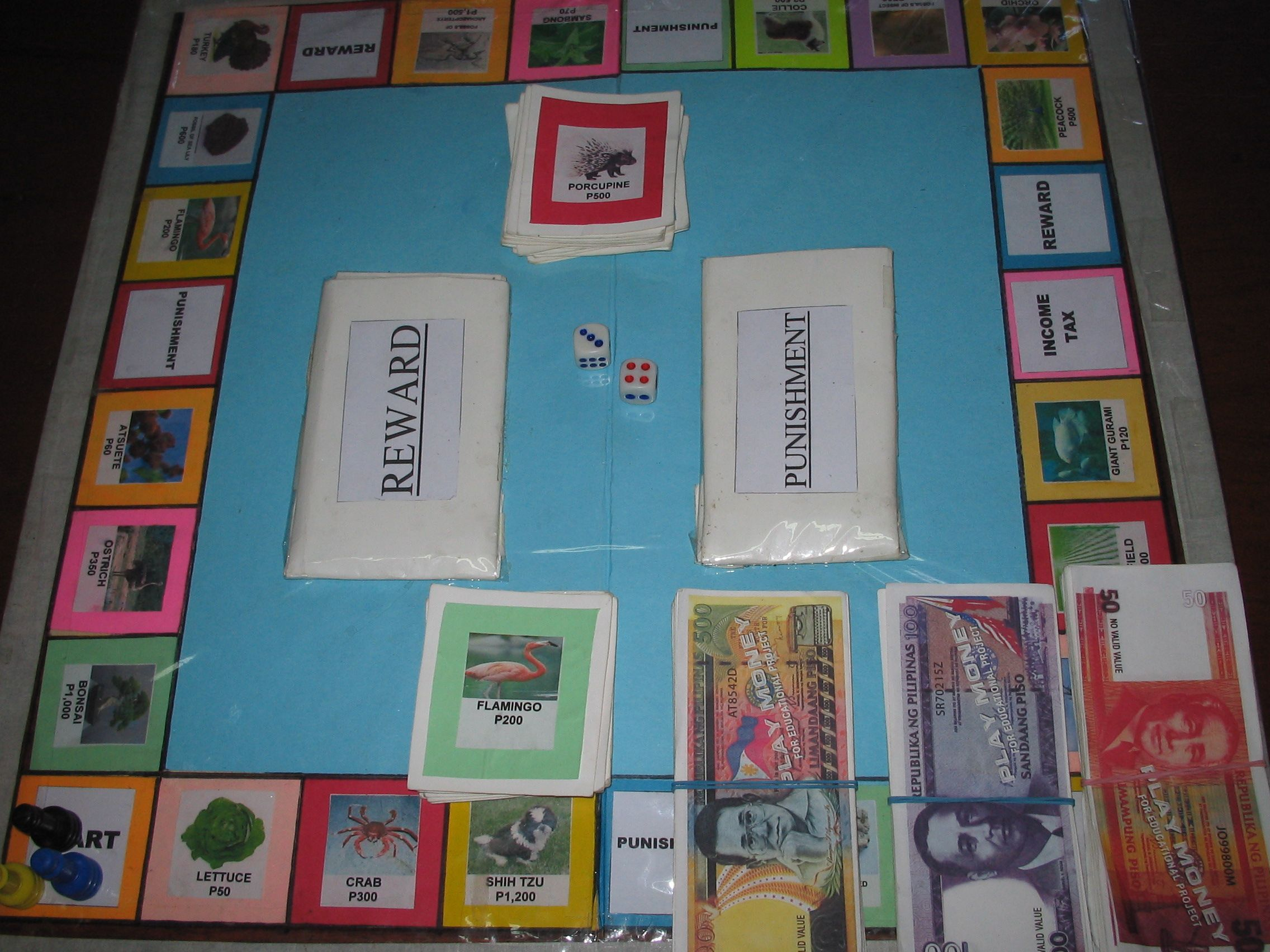 Biology Game Board Project