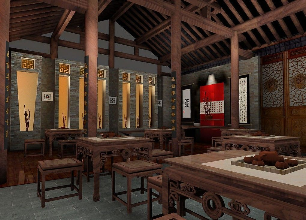 Chinese Interior Design Chinese Teahouse Interior Design 3D
