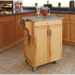 Home Styles Kitchen Cart Black Slate Floor Tiles Cuisine Natural With Salt Pepper Granite Top Walmart