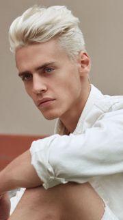 white hair undercut men