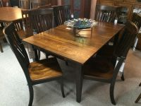 Gorgeous Elm Amish made dining room set! | In Miller's ...