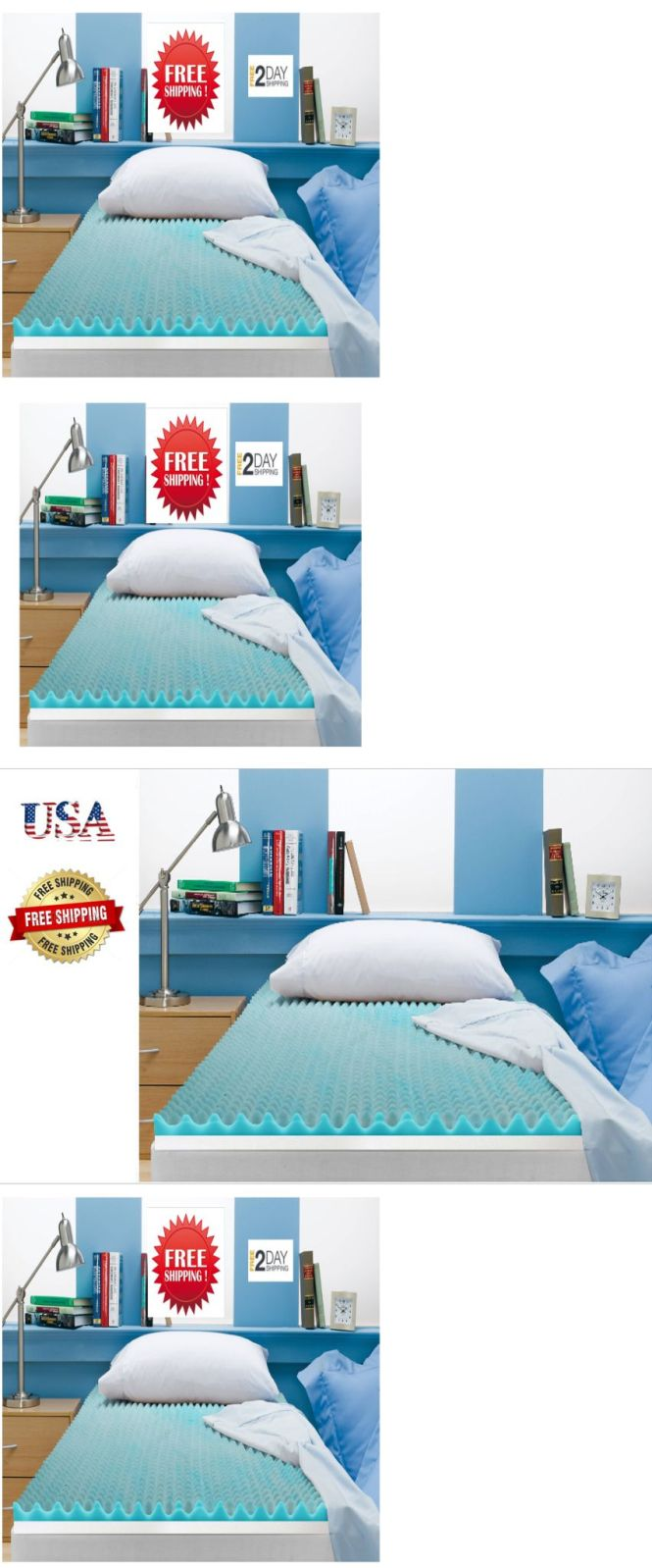Mattress Pads And Feather Beds 175751 Quality 3 Inch Beautyrest Cooling Gel Memory Foam Topper