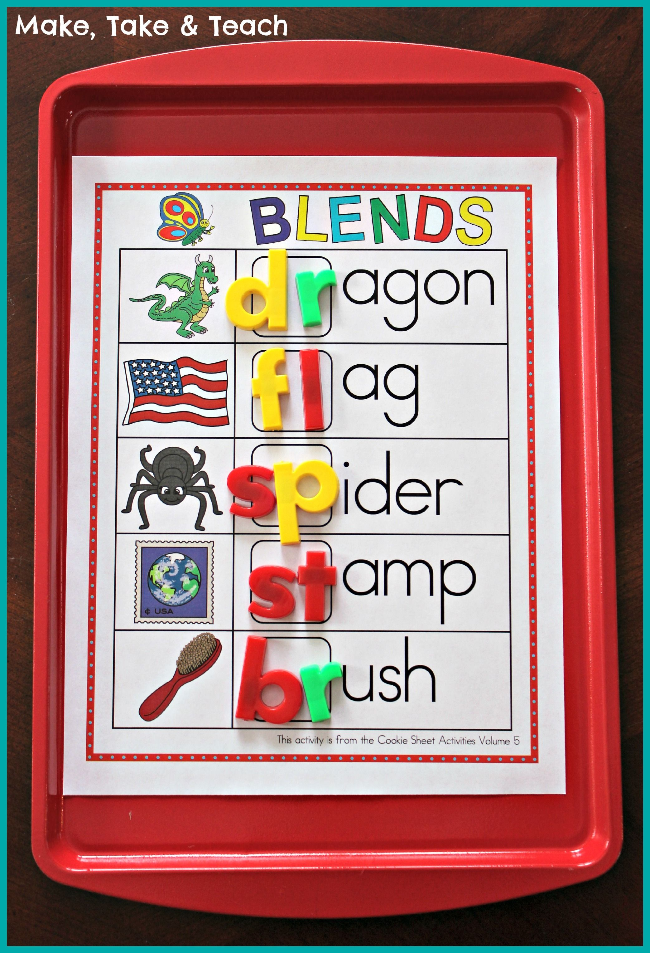 Cookie Sheet Bundle For Sight Words Blends Digraphs And Word Families Make Take Amp Teach
