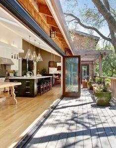This stunning indoor outdoor kitchen by jason urrutia  martha carvalho of design california also rh pinterest