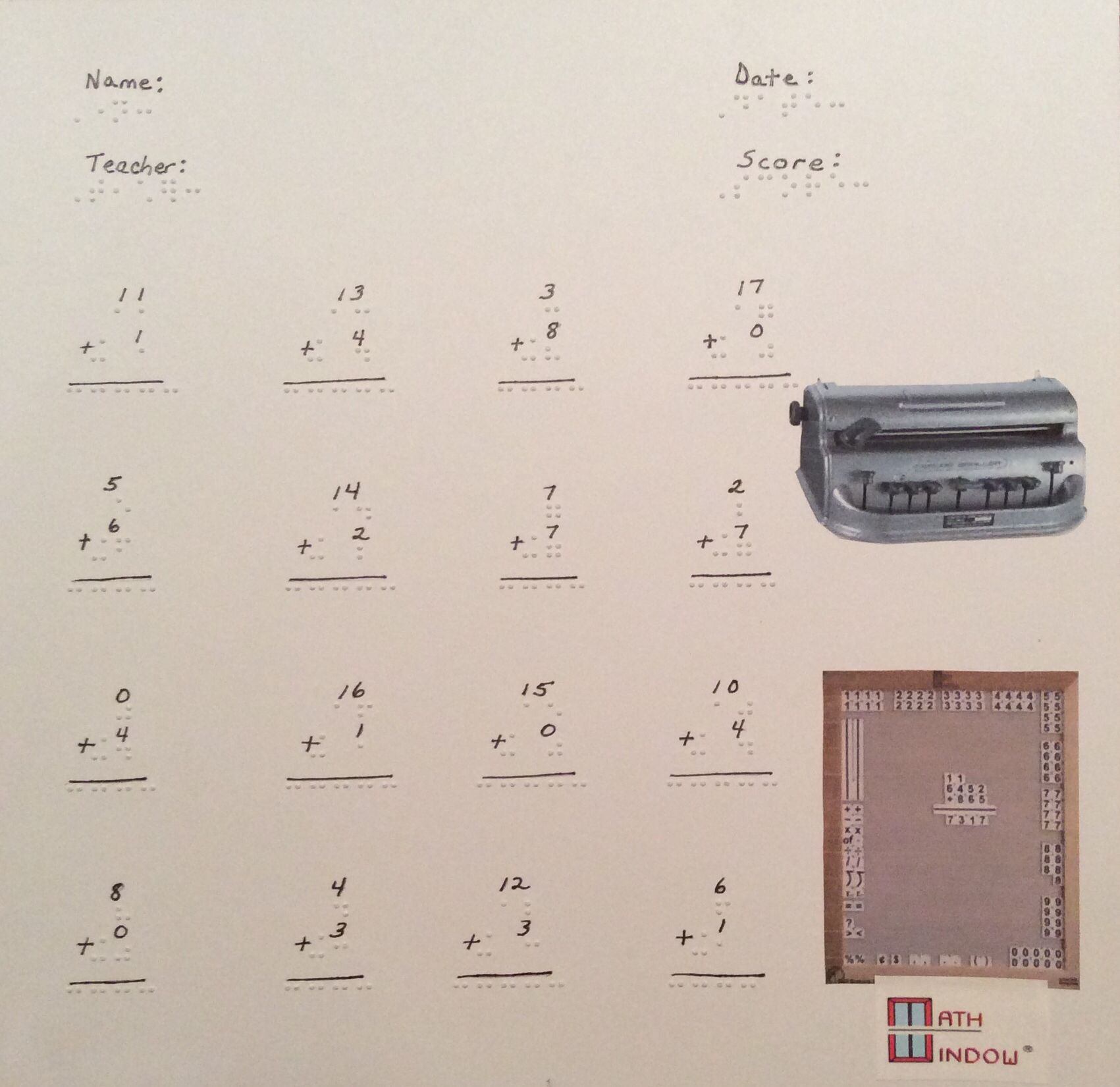 Simple Teacher Math Worksheets Practice Vertical And