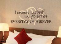 Romantic Sayings Vinyl wall art Master bedroom by ...